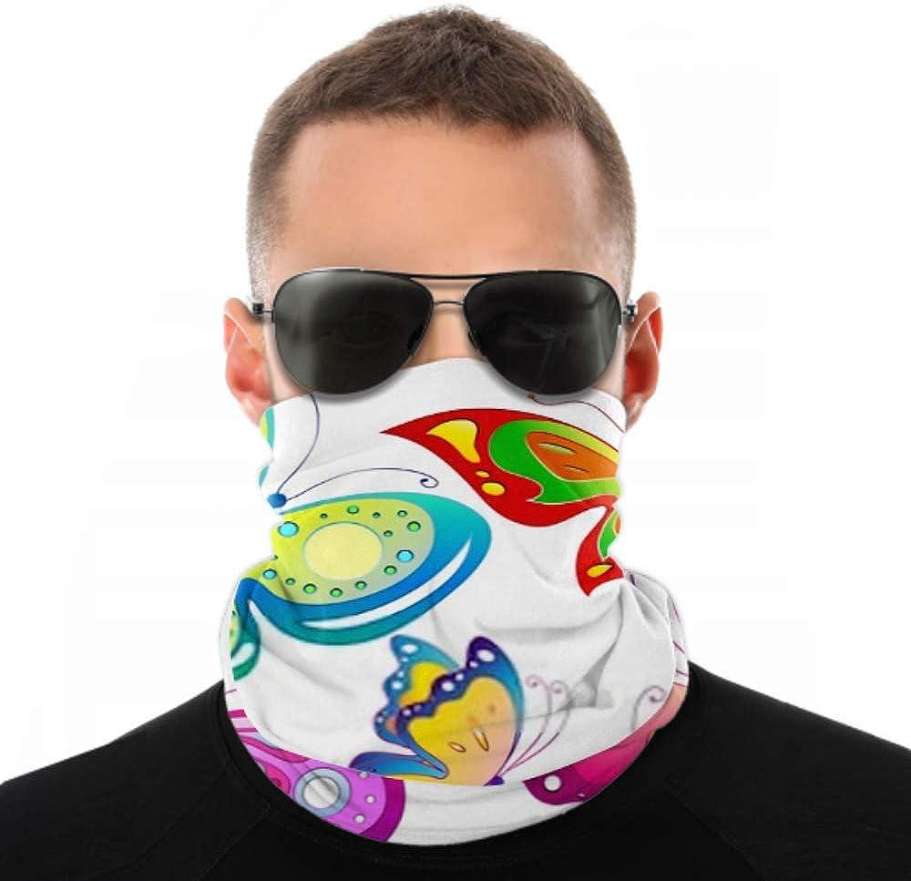 Headbands For Men Women Neck Gaiter, Face Mask, Headband, Scarf Butterflies Design Turban Multi Scarf Double Sided Print Elastic Headbands Bulk For Sport Outdoor
