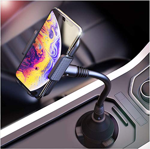 BESTRIX Cup Phone Holder For Car, Cup Holder Phone Mount, Phone Holder for Car Universal for iPhone 11 Pro Xs XS MAX XR X 8 7 6s Plus SE, Galaxy S10 5G S10 S10E S9, LG, Pixel, HTC And All Smartphones