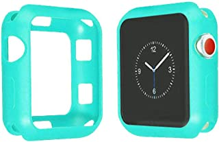 JadYass Shockproof Plastic Case Cover Matte Color for Apple watch series 4 / series 5 , 44MM (Turquoise)