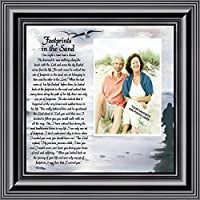 Footprints in the Sand, Personalized Framed Picture 10X10 6703B [並行輸入品]
