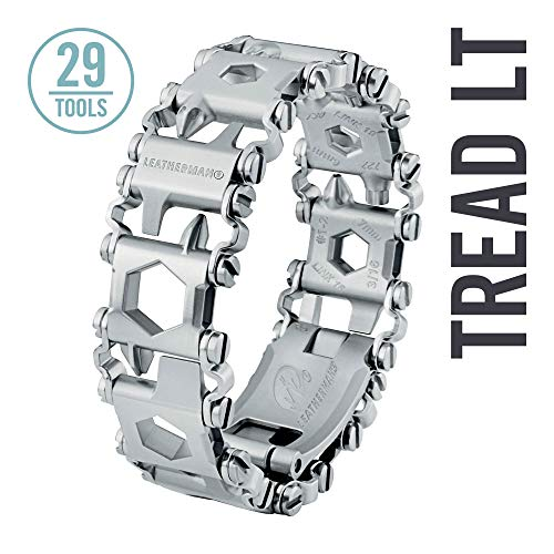 LEATHERMAN, Tread LT Bracelet, The Smaller Travel Friendly Wearable Multitool, Built in the USA, Stainless Steel