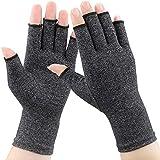 1 par de guantes de artritis, compresión para el alivio del dolor de la artritis, osteoartritis reumatoide y túnel carpiano, guantes de compresión premium y sin dedos para trabajo diario