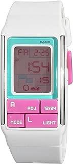 Casio Ladies Girls Poptone Multi Function Digital Pink Resin Band Watch [LDF-51-7C] water resistant
