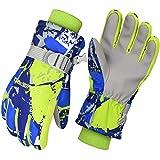 Cevapro Skihandschuhe Kinder Junge Mädchen Wasserdichte Winterhandschuhe Touchscreen Handschuhe für Outdoor wie Skifahren Snowboard Reiten Laufen Radfahren (Grün, S für Kindern)