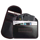 Car Key Signal Blocker Case/Signal Blocking Pouch Bag with Key Chain,Anti-Theft Lock Devices for Privacy Protection (Pack of 2)