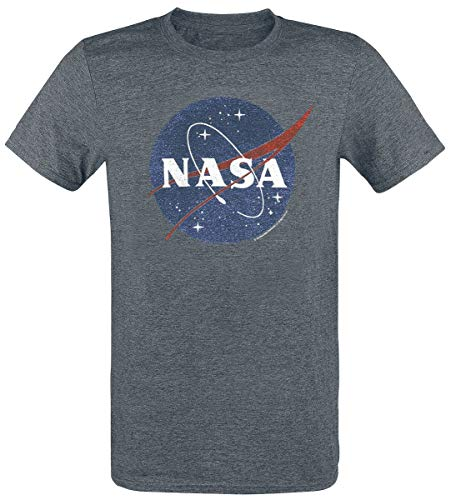 Nasa Circle Logo Hombre Camiseta Gris Marengo, Regular
