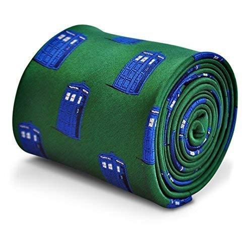 Men's Green Tardis Pattern Tie by Frederick Thomas