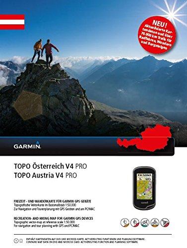Garmin Topo Austria V4Pro–Mapa topográfico con más de 70.000km de Caminos para Bici y senderos