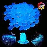 Fane 夜光石 蓄光石 アクアリウム 発光石 飾り石 DIY・工具用品 约2-3cm 100個セット(ブルー)