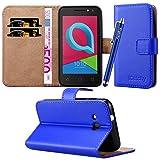iCatchy For Alcatel U3 3G (4049x) Case, Leather Wallet Flip