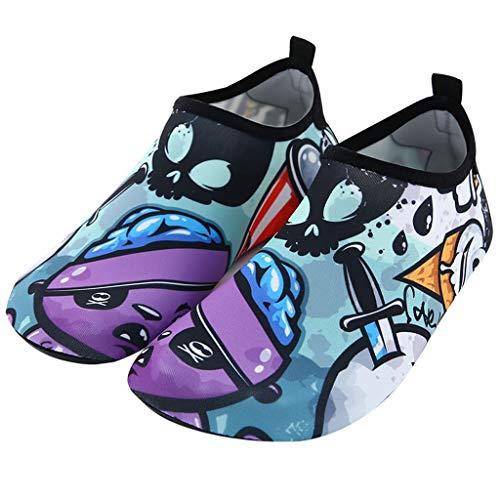 GDSSX Zapatillas de Playa para niños y para Mujer No resbalones Secado rápido Zapatos de Agua Zapatos de natación Padre-niño Zapatos para niños Suela Suave Solques Descalzos Descalzos Secado Rápido