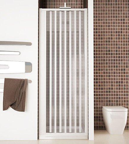 Douchecabine deur, afmeting 100 cm, douchecabine aan de zijkant, wit van acryl