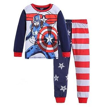 Boys Pajamas Sets Children Pants 100 Cotton Spider-man Long Kids Snug Fit Pjs Winter Toddler Sleepwear