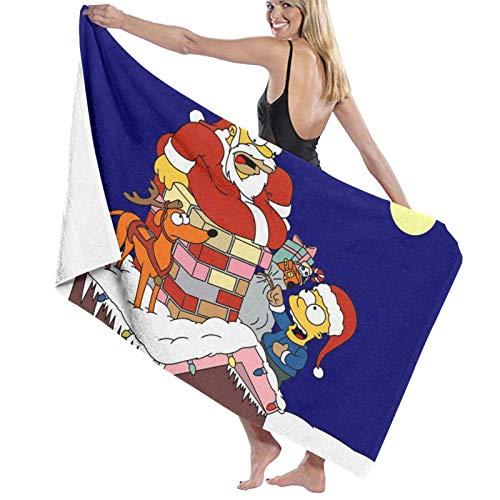 Toalla de baño Simpsons, súper suave, de secado rápido y muy absorbente, de calidad, 32 x 52 pulgadas, toallas de baño, accesorios de toalla de piscina.