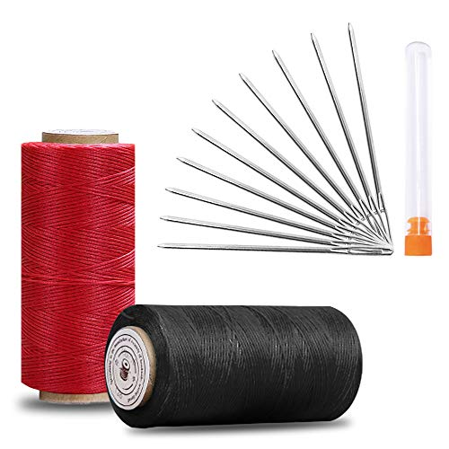 Find Discount 2 Pack Waxed Threads with Large-Eye Stitching Needles, SourceTon Leather Sewing Stitch...