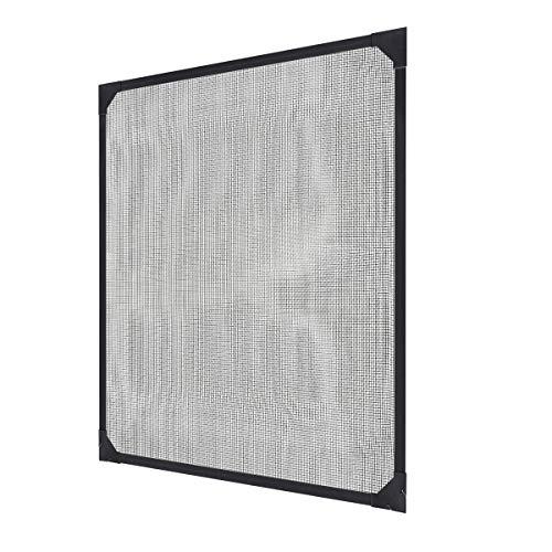 Sekey Maßgeschneidertes Universelles Magnetisches Fenster Gegen Mücken, Fliegen und Insekten, Insektenschutz-Kit mit Magnetstreifen Passend für Fenster bis 110x130 cm, Werkzeuglose Montage, Grau