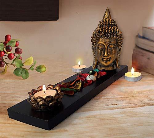 TIED RIBBONS Buda candelabro candelabro con Juego de bandejas para la decoración de la Mesa Estante de la Pared del hogar  Multi Estándar