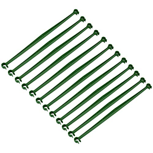 OUNONA 12 Stück erweiterbar Spalier Stecker Kunststoff Pleuel Klammern Garten-Supplies für Jeden Pflanzst?be