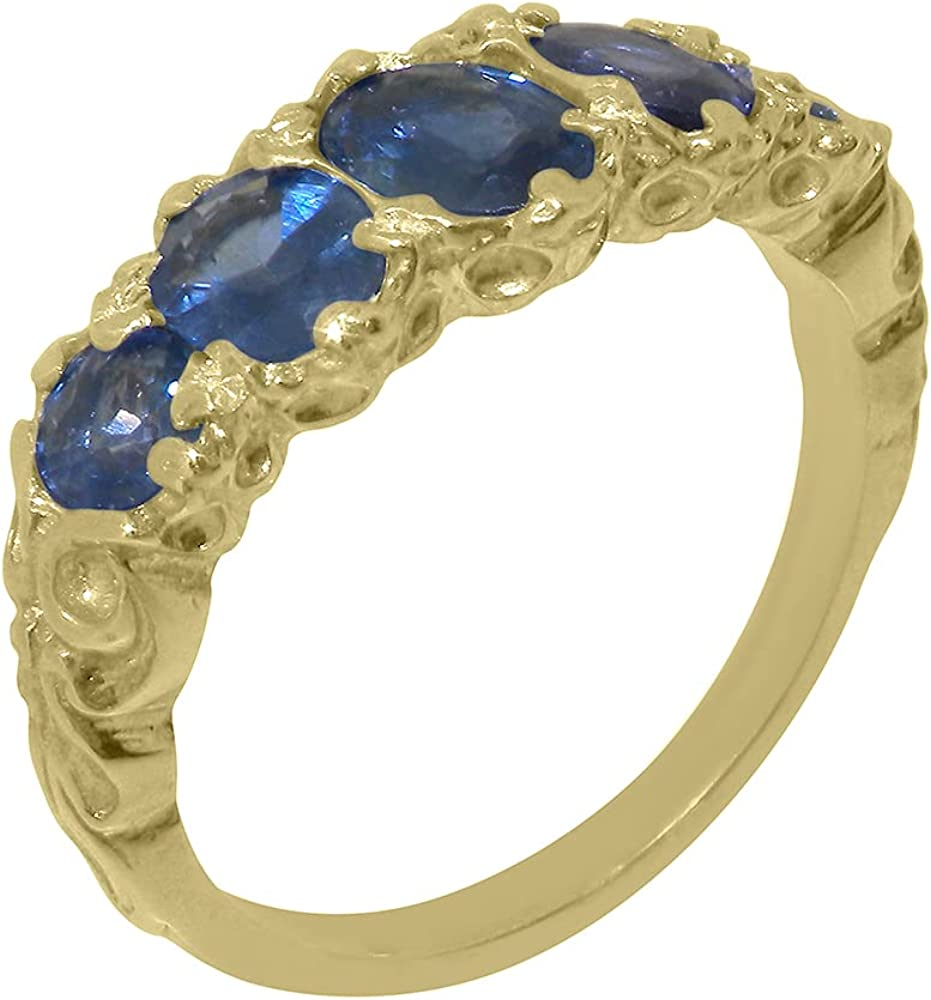 18k Yellow At the price of surprise Gold Natural Super special price Sapphire Womens Band to 4 1 Sizes - Ring