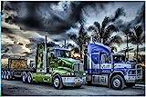 Camión de pintura de diamantes 5D venta de bordado de diamantes pintura de diamantes todo Navidad Navidad bordado con cuentas bordado simple -80x90cm