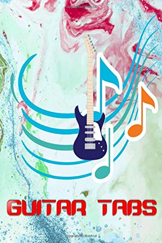 Guitar In TAB: Despacito Guitar Tabs Size 6 X 9 Inches Glossy Cover Design Cream Paper Sheet ~ Blank - Tablature # Easy 110 Pages Good Prints.