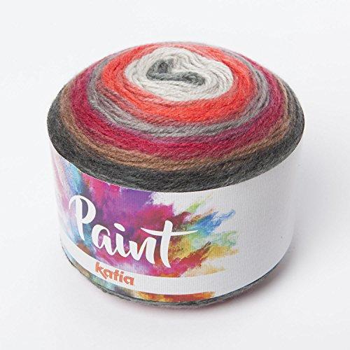 Lana Paint Katia para turbante 50amarillo, blanco, melocotón, gris, 5