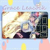 GraceLeacock カードゲームプレイマット 遊戯王 プレイマット VOCALOID ボーカロイド 初音ミクHatsune Miku アニメグッズ TCG万能 収納ケース付き アニメ 萌え カード枠あり (60cm * 35cm * 0.5cm)