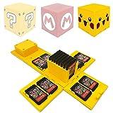 Funda de Juego - Compatible para Nintendo Switch Compatible con hasta 24 Juegos de Nintendo Switch Organizador de Tarjeta de Juego Contenedor de Viaje (Pikachu Amarillo)