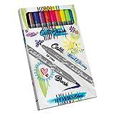 Online Calli.Brush 10er Set Handlettering Brush-Pen, Pinsel-Stifte Set, Kalligraphie-Set, Pens mit Calligraphie-Spitze und Pinsel-Spitze für Bullet Journaling, Wasserfarben, Geschenkbox