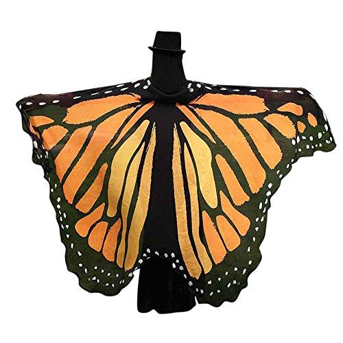 serliy😛Frauen Weiche Gewebe Schmetterlings Flügel Schal feenhafte Damen Nymphe Pixie Halloween Cosplay Weihnachten Cosplay Kostüm Zusatz