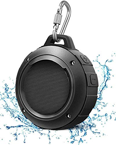 Outdoor Waterproof Bluetooth Speaker,Kunodi Wireless Portable Mini Shower Travel Speaker with...