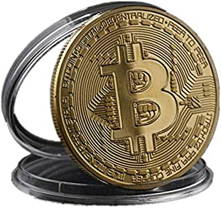 Gold Plated Bitcoin Coin Collectible Gift