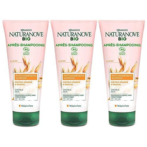 Kéranove Naturanove Bio - Après-Shampooing Nutrition Certifié Bio Avoine - Pour Cheveux...