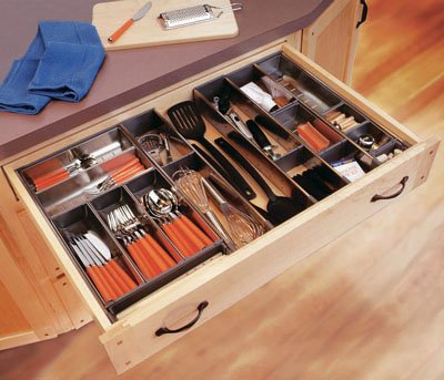 """Blum Orgaline For Wood Drawers With Lengths 19 1/4"""" To 20"""" Combination Kit Stainless Steel"""