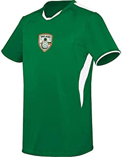 Ireland Na buachaillí i nglas Soccer Licensed Logo Jersey (Custom Name/Number or Blank Back)
