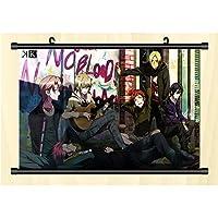 日本のアニメ K ポスターハンギングウォールスクロール HD高品質 巻物アートワークアニメーション周辺機器 フレンドギフト-45x30cm/17.72x11.81inch