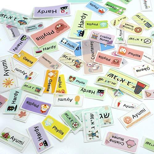 Patrón de Dibujos Animados Hierro en la Etiqueta Ropa Etiquetas de Nombre Personalizadas Tela Impermeable Etiqueta Personalizada Uniforme Escolar Accesorios de Ropa
