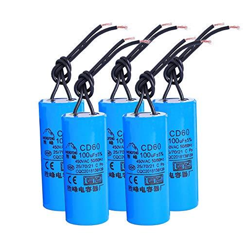 YOKING 100UF450V - Motore pompa ad acqua, per lavatrici, condensatore di avviamento