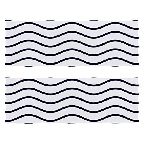 2 paquetes de toallas de yoga para gimnasio, camping, playa y viajes, líneas suaves onduladas para el cuello, secado rápido