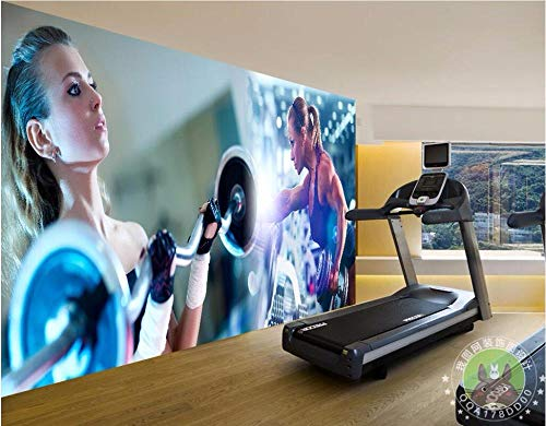 Gangbeng mural autoadhesivos Materiales no tejidos papel pintado murales 3D papel pintado de pared 250*175CM, Gym Beauty Barbell Personality Simplicity, Mural Fotomural Papel Pintado Papel Tapiz Perso