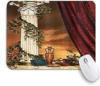 KAPANOUマウスパッド ゴシックギリシャスタイルシーンクライマー枕フルーツつると赤いカーテンの夕日 ゲーミング オフィ良い 滑り止めゴム底 ゲーミングなど適用 マウス 用ノートブックコンピュータマウスマット