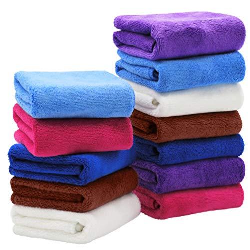 KESYOO 10 Stks Absorberende Microfiber Poetsdoeken Stofdoek Doek Washandje Keuken Vaatwas Handdoek Voor Thuis Keuken Autoruit (Willekeurige Kleur)