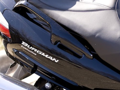 2 Adhesivos Resina 3D Par Letras Burgman 250-400-650 per Scooter Suzuki New - Plata