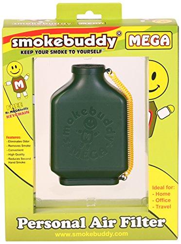 Smoke Buddy 0161-GRN Mega Personal Air Filter, Green