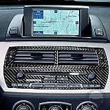 Para BMW Serie Z Z4 E85 E86 2003-2008 consola central de ventilación panel CD Radios interruptor envolvente interior pegatina modificada RRX fibra de carbono Trim & Accesorios (Juego B)