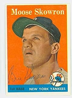 moose skowron autograph