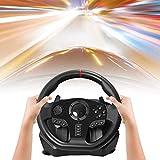 900 Degree PC Racing Wheel, USB Universal Car Jeu De Course Au Volant avec Pédale pour Windows PC, PS3, PS4, X-One, Switch