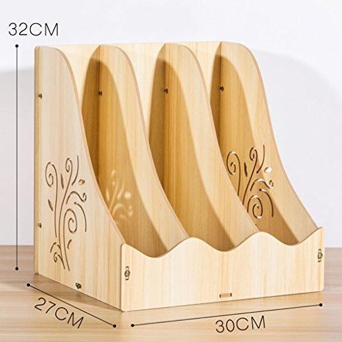 Fournitures de bureau simples Bibliothèque étagère Bureau A4 Papier information Organisateur dossier Rack de stockage en bois moderne (couleur : # 1)