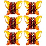 RC ROCHE ORNAMENT 6 Pcs Womens Butterfly Claw Jaw Strong Hold Grip No Slip Plastic Chic Styling...