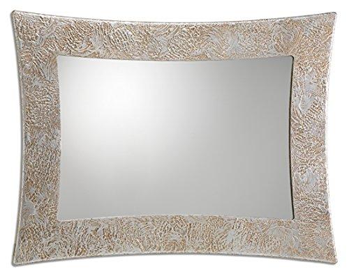 Pintdecor Vega Specchiera, MDF, Argento, 115x88x3 cm, Made in Italy